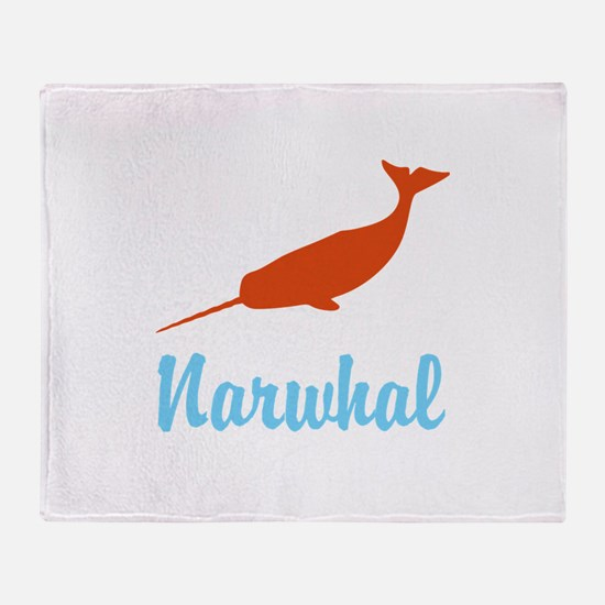 Narwhal Throw Blanket