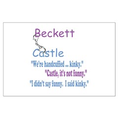 Beckett Castle Handcuffed Quote Posters