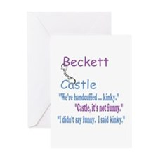 Beckett Castle Handcuffed Quote Greeting Card