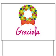Christmas Wreath Graciela Yard Sign
