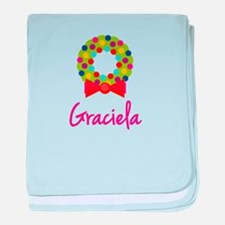 Christmas Wreath Graciela baby blanket