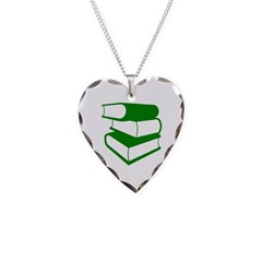 Stack Of Green Books Necklace