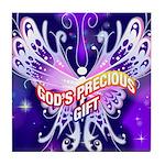 God's Precious Gift Tile Coaster