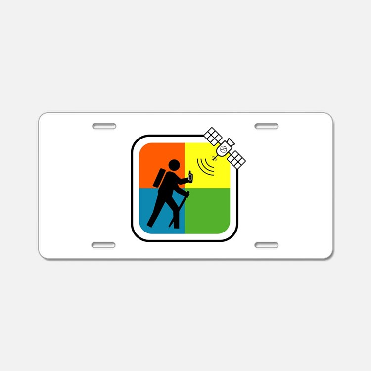 Cute Geocacher Aluminum License Plate