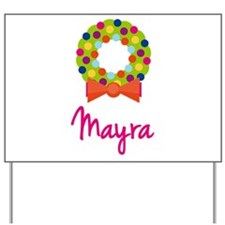 Christmas Wreath Mayra Yard Sign