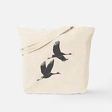 Crane Silhouette - Tote Bag