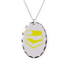 Stack Of Yellow Books Necklace