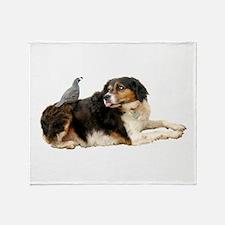 Quail Dog Throw Blanket