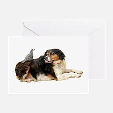 Quail Dog Greeting Card