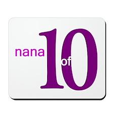 Nana Grandpop of 10 Mousepad