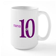 Nana Grandpop of 10 Ceramic Mugs
