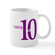 Nana Grandpop of 10 Small Mugs