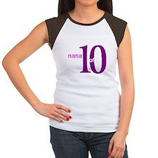 Nana Grandpop of 10 Women's Cap Sleeve T-Shirt