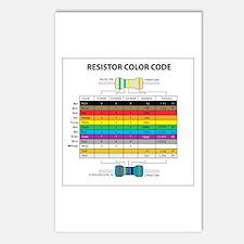 Resistor Color Postcards (Package of 8)