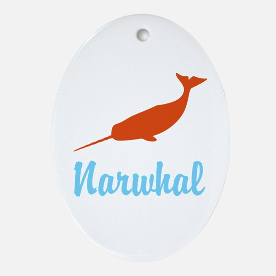 Narwhal Ornament (Oval)