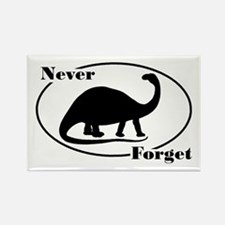 Never Forget Dinosaurs Rectangle Magnet