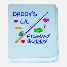 DADDY'S FISHIN' BUDDY baby blanket