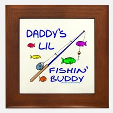 DADDY'S FISHIN' BUDDY Framed Tile