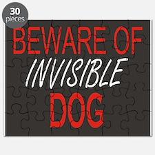 Beware of Invisible Dog Puzzle