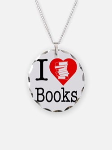 I Heart Books or I Love Books Necklace