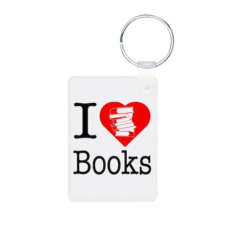I Heart Books or I Love Books Aluminum Photo Keych
