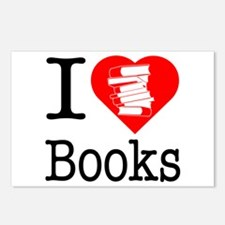I Heart Books or I Love Books Postcards (Package o