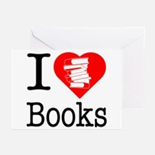 I Heart Books or I Love Books Greeting Cards (Pk o