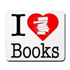 I Heart Books or I Love Books Mousepad
