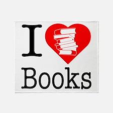 I Heart Books or I Love Books Throw Blanket