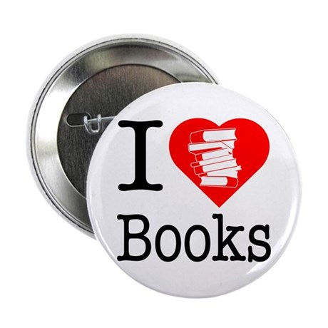 "I Heart Books or I Love Books 2.25"" Button"