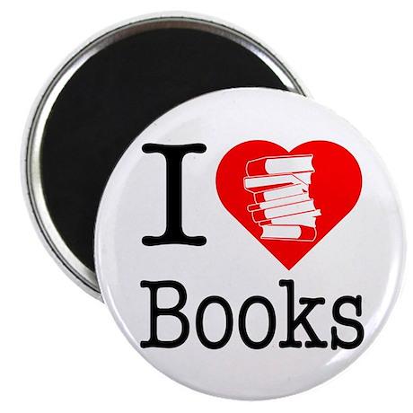 I Heart Books or I Love Books Magnet