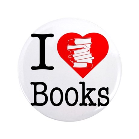 "I Heart Books or I Love Books 3.5"" Button (100 pac"