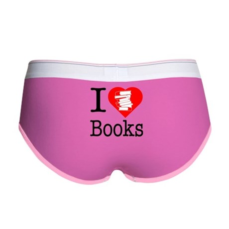 I Heart Books or I Love Books Women's Boy Brief
