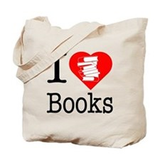 I Heart Books or I Love Books Tote Bag