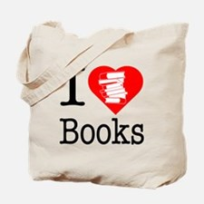 I Heart Books or I Love Books Tote Bag