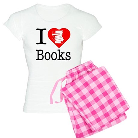 I Heart Books or I Love Books Women's Light Pajama