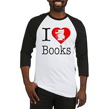I Heart Books or I Love Books Baseball Jersey