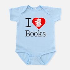 I Heart Books or I Love Books Infant Bodysuit