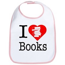 I Heart Books or I Love Books Bib