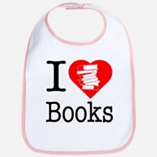 I Heart Books or I Love Books Bib