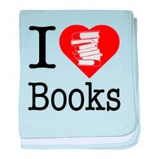 I Heart Books or I Love Books baby blanket