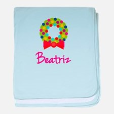 Christmas Wreath Beatriz baby blanket