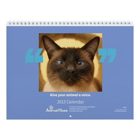 Animal Muse 2013 Wall Calendar