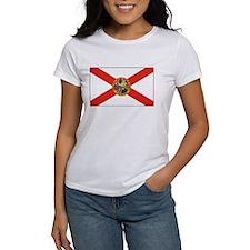 Florida State Flag Women's White T-Shirt