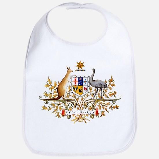 Australia Coat of Arms, coat of arms,flag Baby Bib