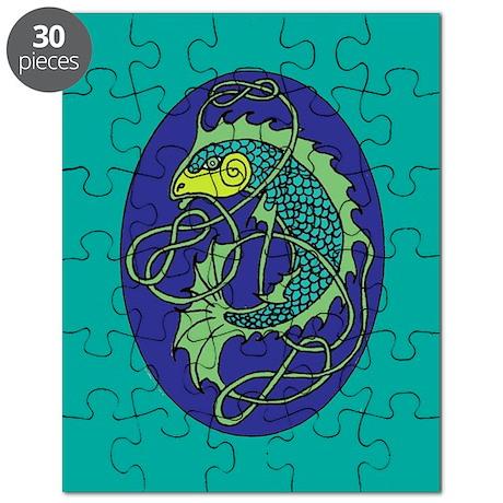 Celtic Fish Oval Puzzle