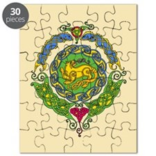 Celtic Cat Mandala 12 Puzzle
