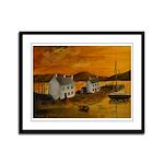 Framed Panel Print, Highland sunrise