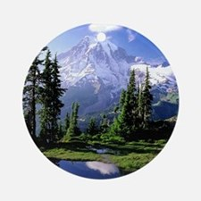 Mount Rainier National Park Ornament (Round)