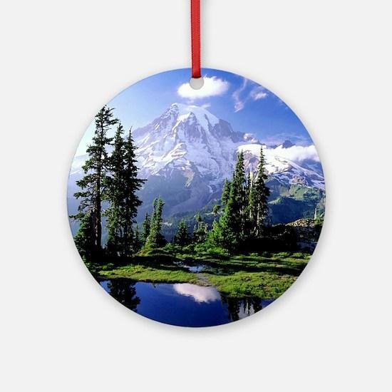 Mount Rainier National Park Ornament (Round)